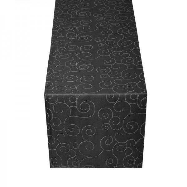 Tischläufer Tischband Ornamente in Schwarz
