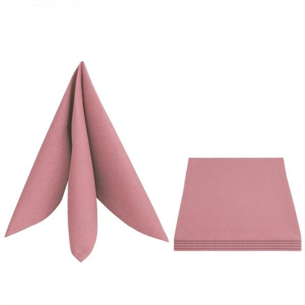 Servietten Damast Leinen 50x50 Alt-Rosa (6er Pack)