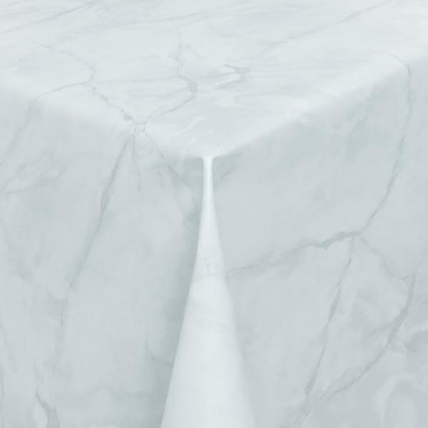 Tischdecke Abwaschbar Wachstuch Lebensmittelecht Marmor Hell-Grau