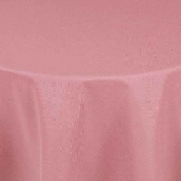 Tischdecken Damast Rund mit Saum Leinen-Optik Alt-Rosa