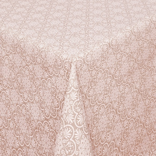 Tischdecken Savona Baumwolle Oriental mit Fleckschutz in Rosa