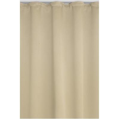 vorhang gardine blickdicht dekoschal kräuselband in hell-beige, Deko ideen