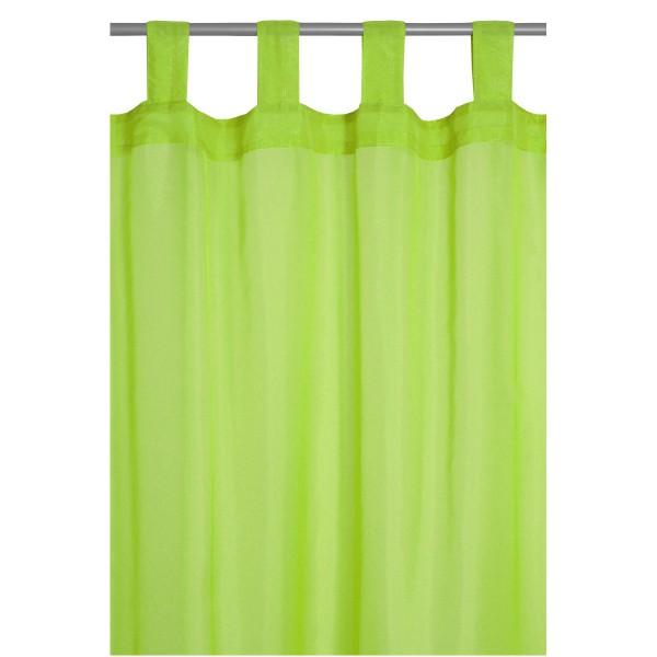 Vorhang Gardine Transparent Schlaufenschal Dekoschal in Grün