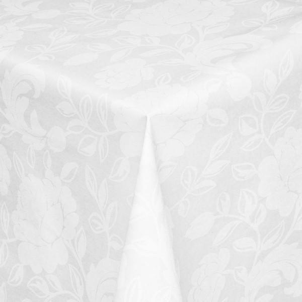 Tischdecken Carrara Jaquard-Gewebe in Hell-Grau mit Fleckschutz