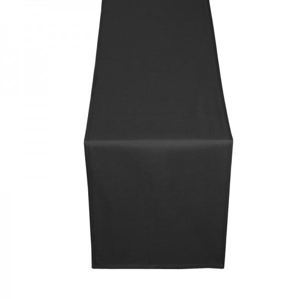 Tischläufer Tischband Uni in Schwarz