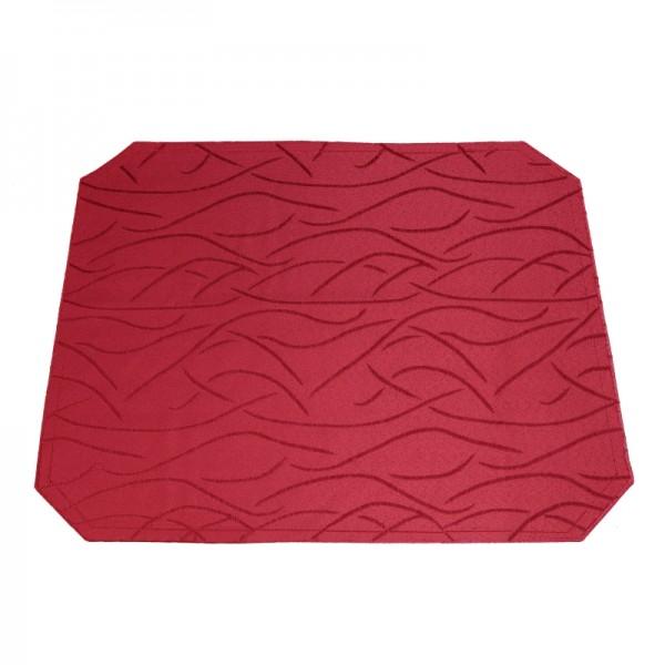 Tischsets Platzsets Streifen 40x50 cm in Wein-Rot