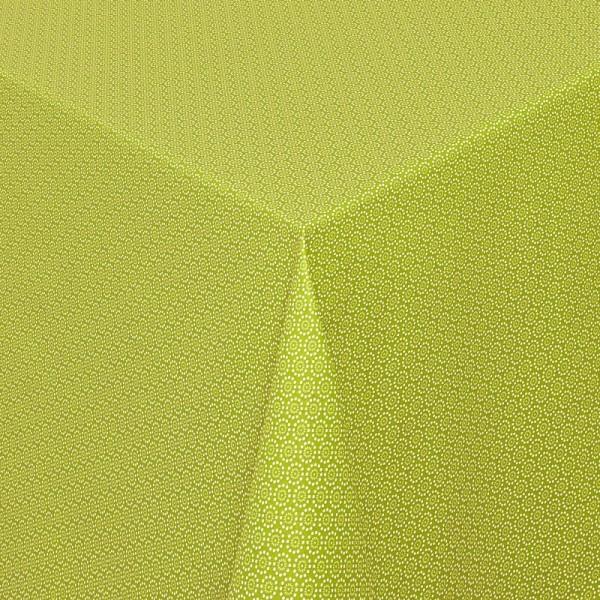 Tischdecken Viterbo 100% Baumwolle in Grün mit Fleckschutz
