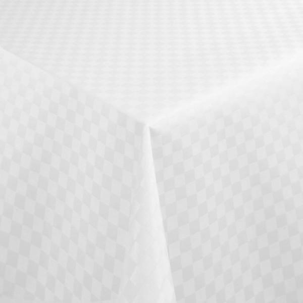 Tischdecken Jacquard-Gewebe mit Fleckschutz und Saum Kopenhagen in Weiss