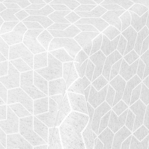 Tischdecken Jacquard-Gewebe mit Fleckschutz und Saum Lorca in Weiss