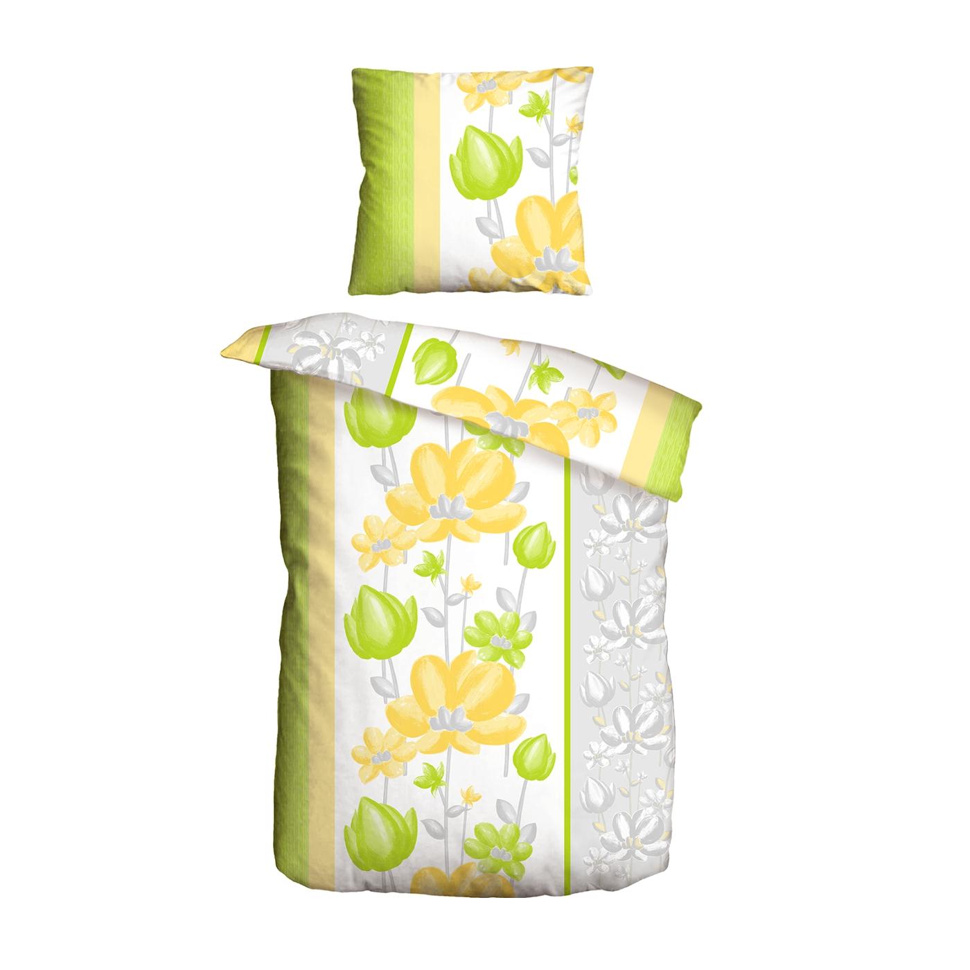 bettw sche 2tlg 135x200 renforce lemon gelb. Black Bedroom Furniture Sets. Home Design Ideas
