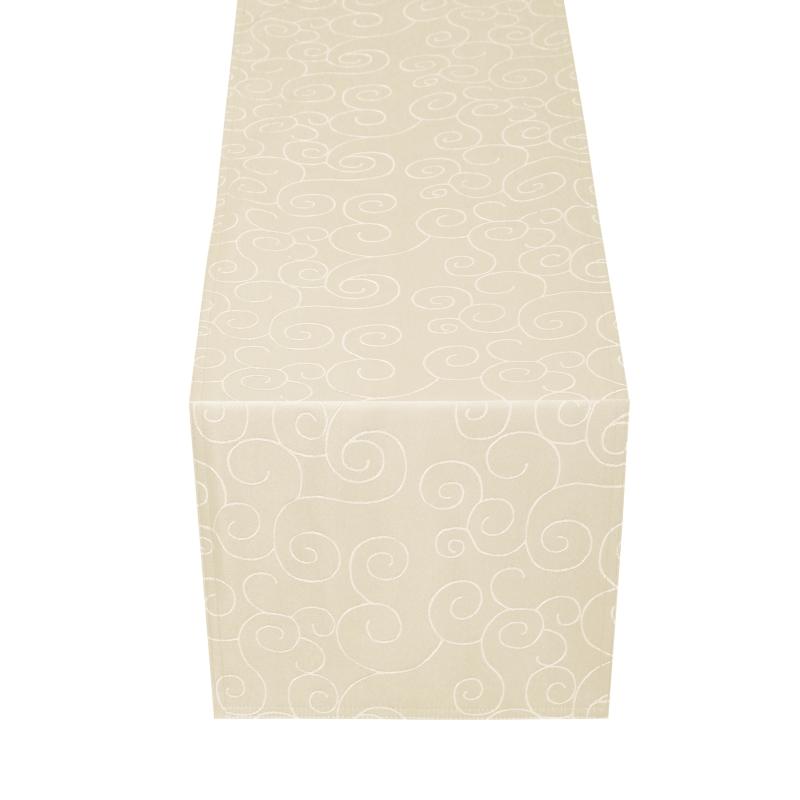 tischl ufer tischband ornamente in creme champagner. Black Bedroom Furniture Sets. Home Design Ideas
