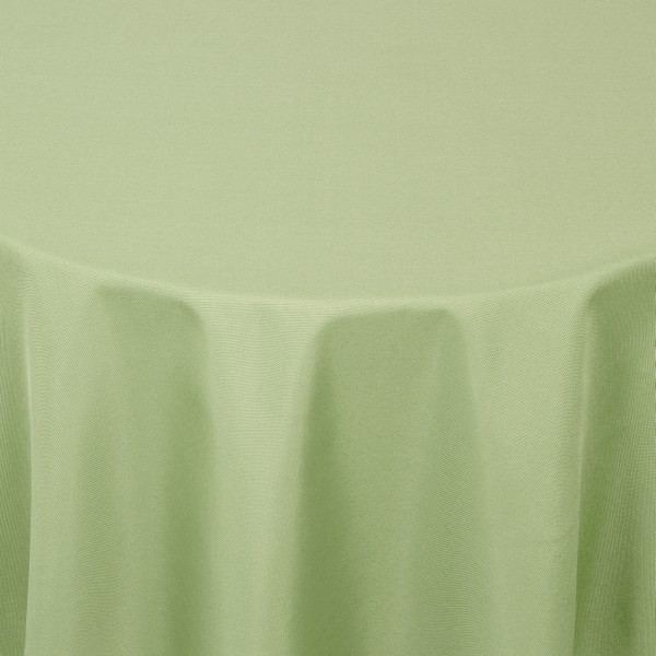 Tischdecken Damast Rund mit Saum Uni Lind-Grün