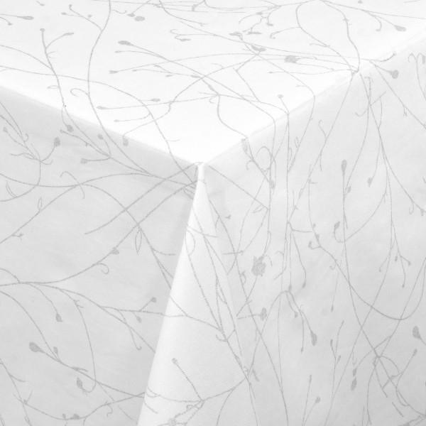 Tischdecken Toronto Baumwolle mit Fleckschutz in Silber-Grau