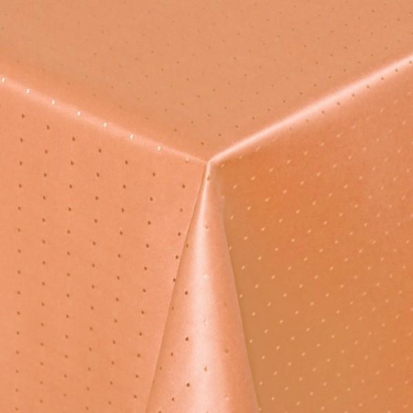 Tischdecken Damast Eckig mit Saum Punkte Apricot