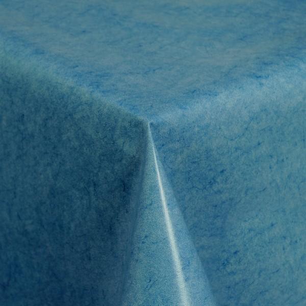Tischdecke Abwaschbar Wachstuch Blau im Wunschmaß
