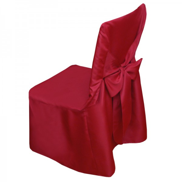 Stuhlhusse Uni Stuhlbezug Stuhlüberzug Husse Hussen Rot