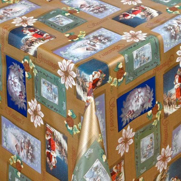 Tischdecke Abwaschbar Wachstuch Weihnachten Weihnachtsmotive Gold