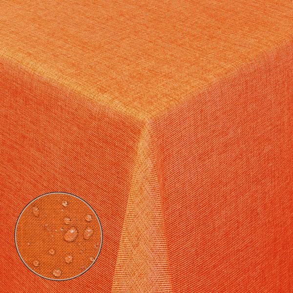 Tischdecken Damast Eckig Leinen Meliert wasserabweisend Orange