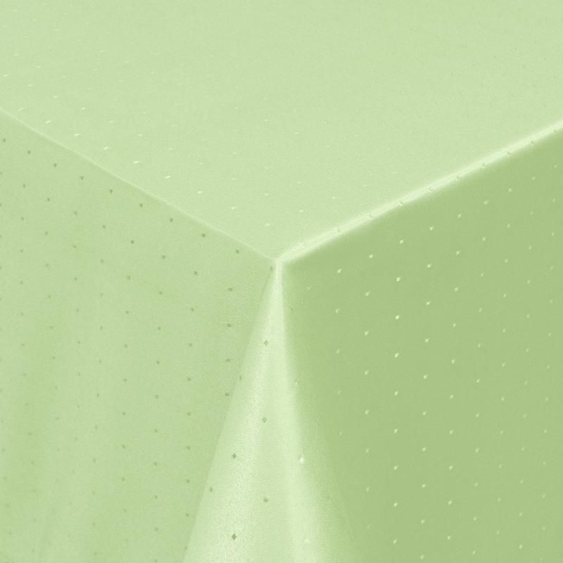 tischdecken damast eckig mit saum punkte lind gr n. Black Bedroom Furniture Sets. Home Design Ideas