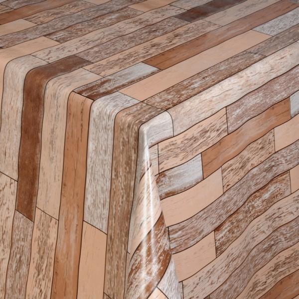 Tischdecke Abwaschbar Wachstuch Rechtecke Beige Braun im Wunschmaß