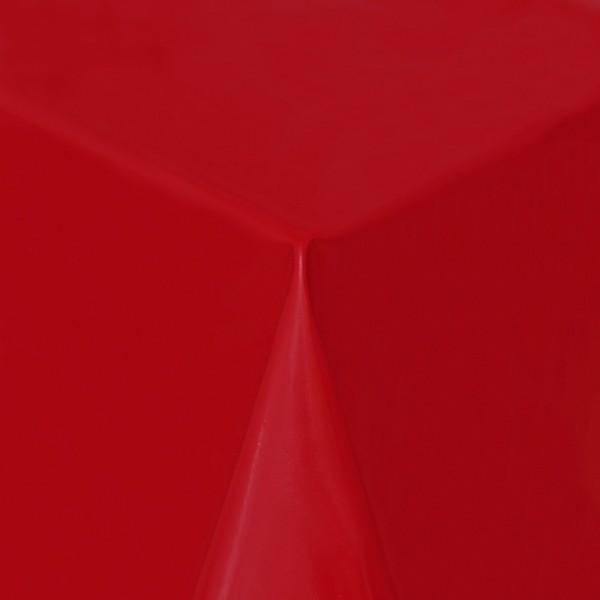 Tischdecke Abwaschbar Wachstuch Lebensmittelecht einfarbig Rot