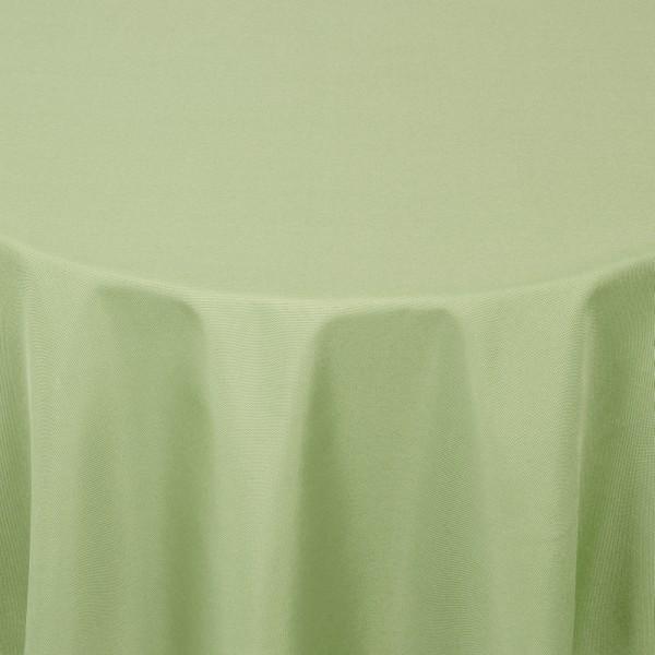 Tischdecken Damast Oval mit Saum Uni Lind-Grün