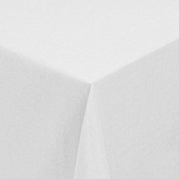Tischdecken Damast Eckig mit Saum Leinen-Optik Weiss