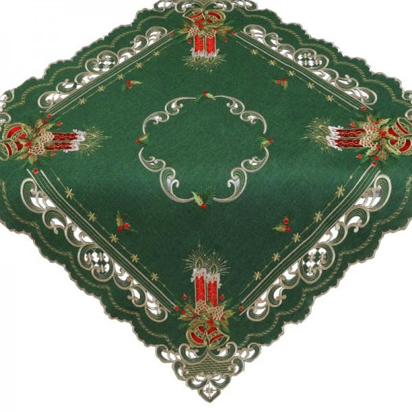 Tischdecke Mitteldecke Aufleger mit Stickerei in Grün
