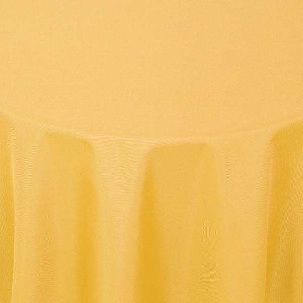 Tischdecken Damast Rund mit Saum Uni Dunkel-Gelb