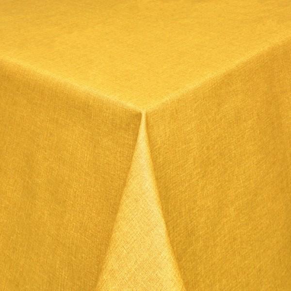 Tischdecken Olbia Jaquard-Gewebe in Gelb mit Fleckschutz