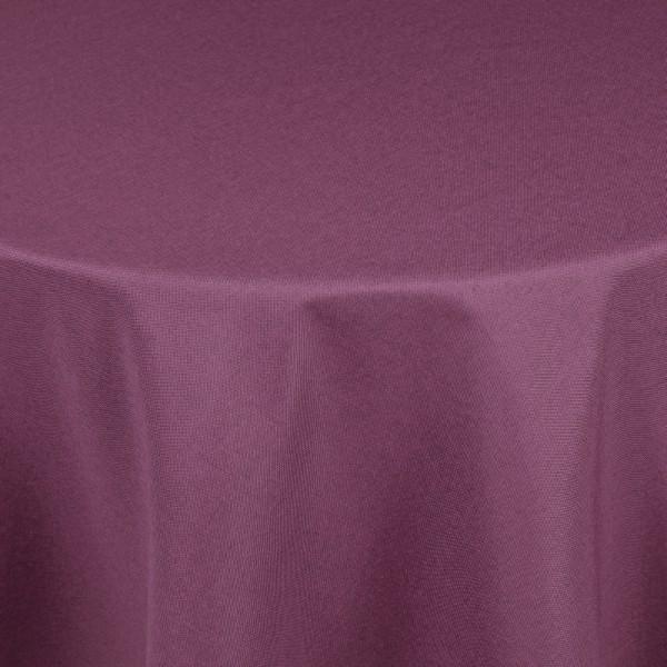Tischdecken Damast Rund mit Saum Leinen-Optik Lila