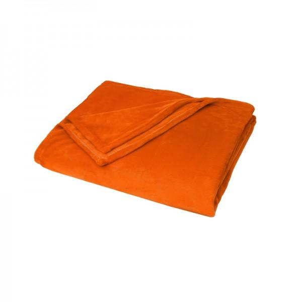 Kuscheldecke Supersoft Tagesdecke Wohndecke Bettüberwurf in Orange