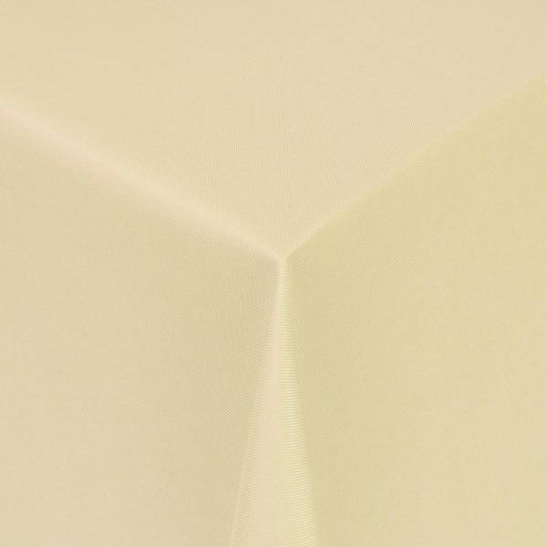 Tischdecken Damast Eckig mit Saum Uni Creme-Beige